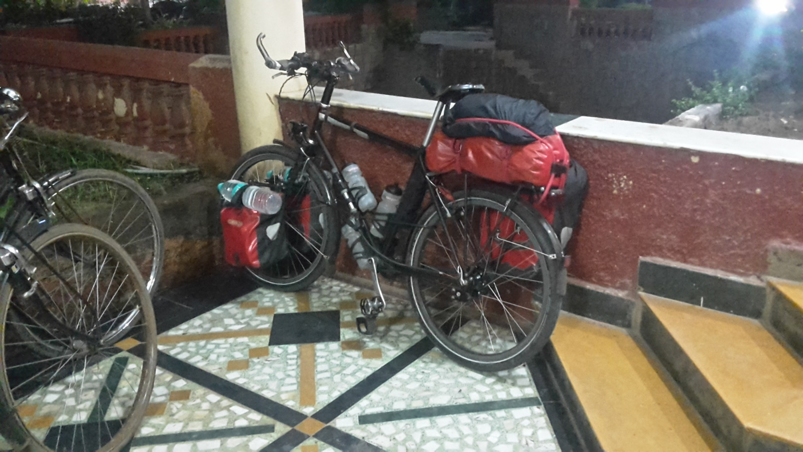 Bike outside hotel