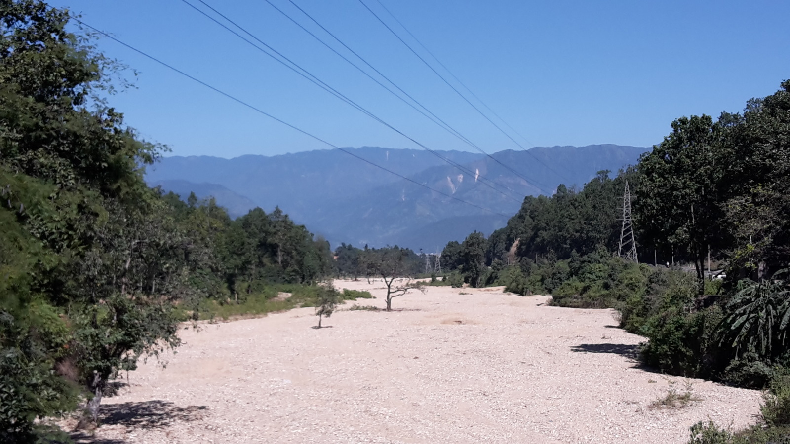 Dried river bed