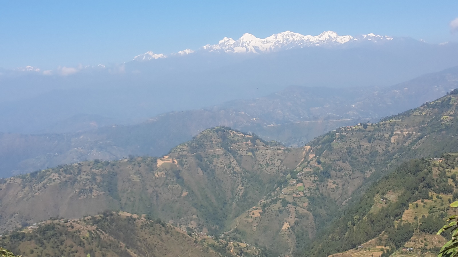 Panoramic of mountains
