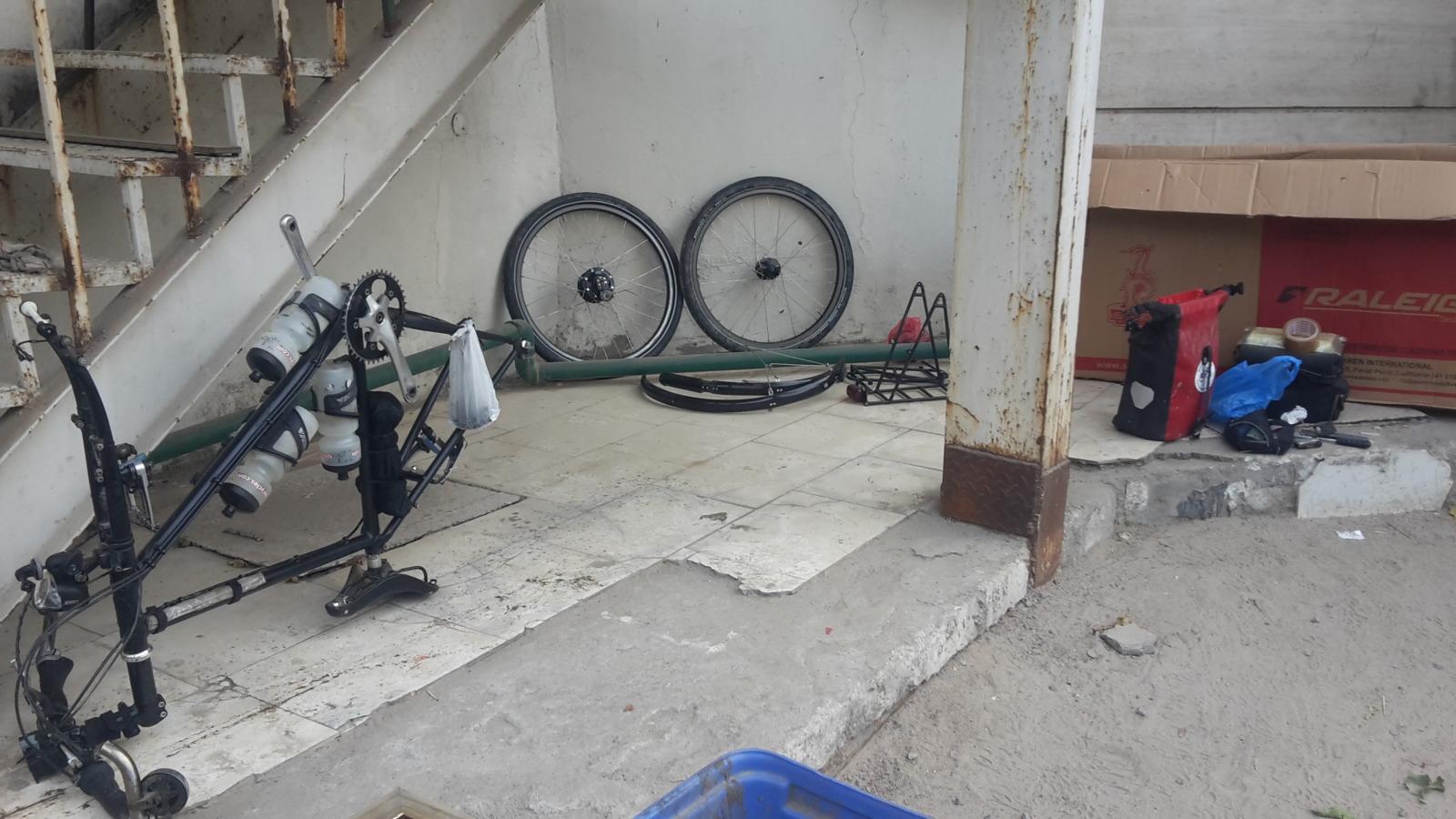 Packing a bike away