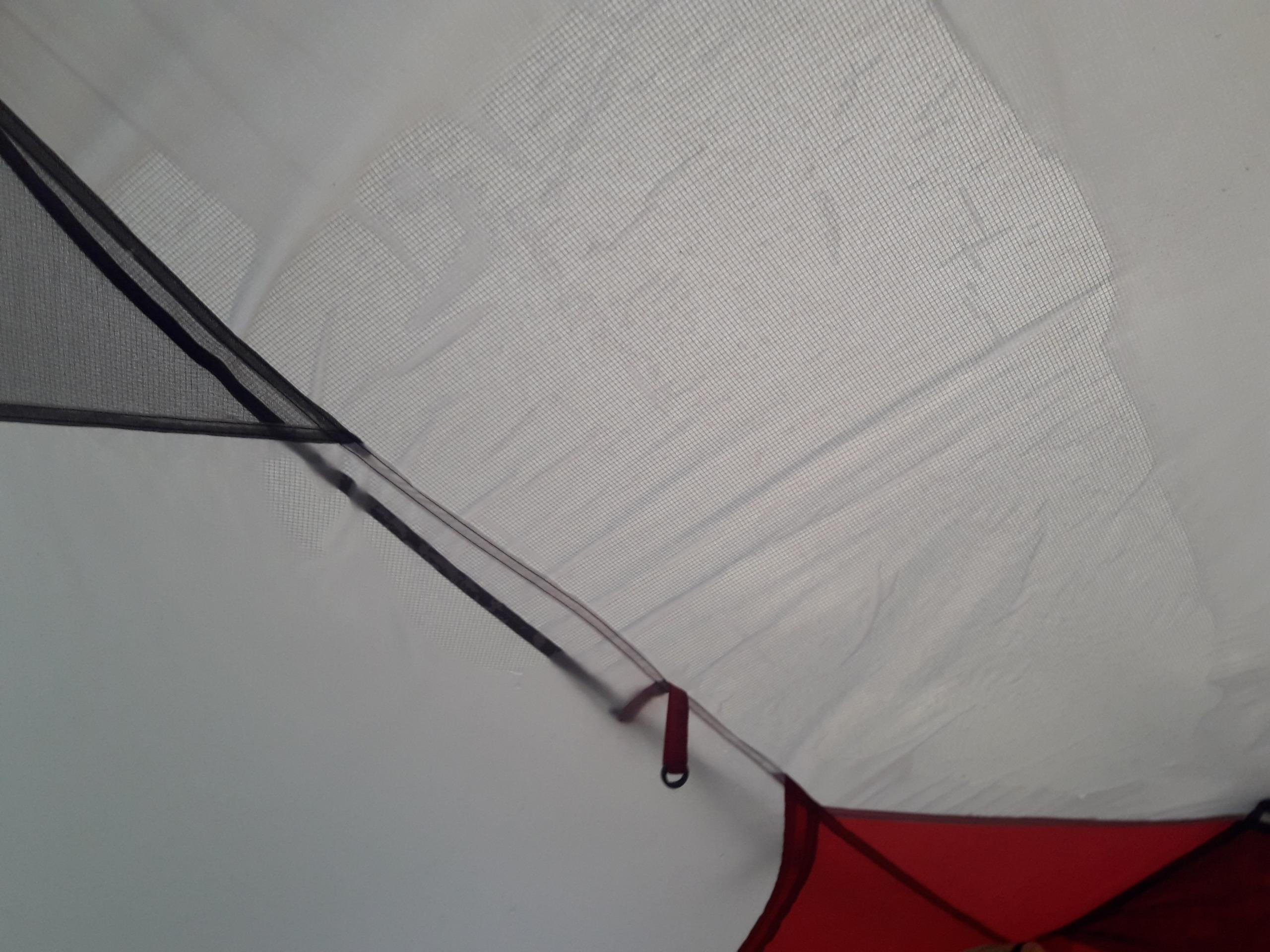 Inside a tent MSR Hubba Tour 2 Leaks