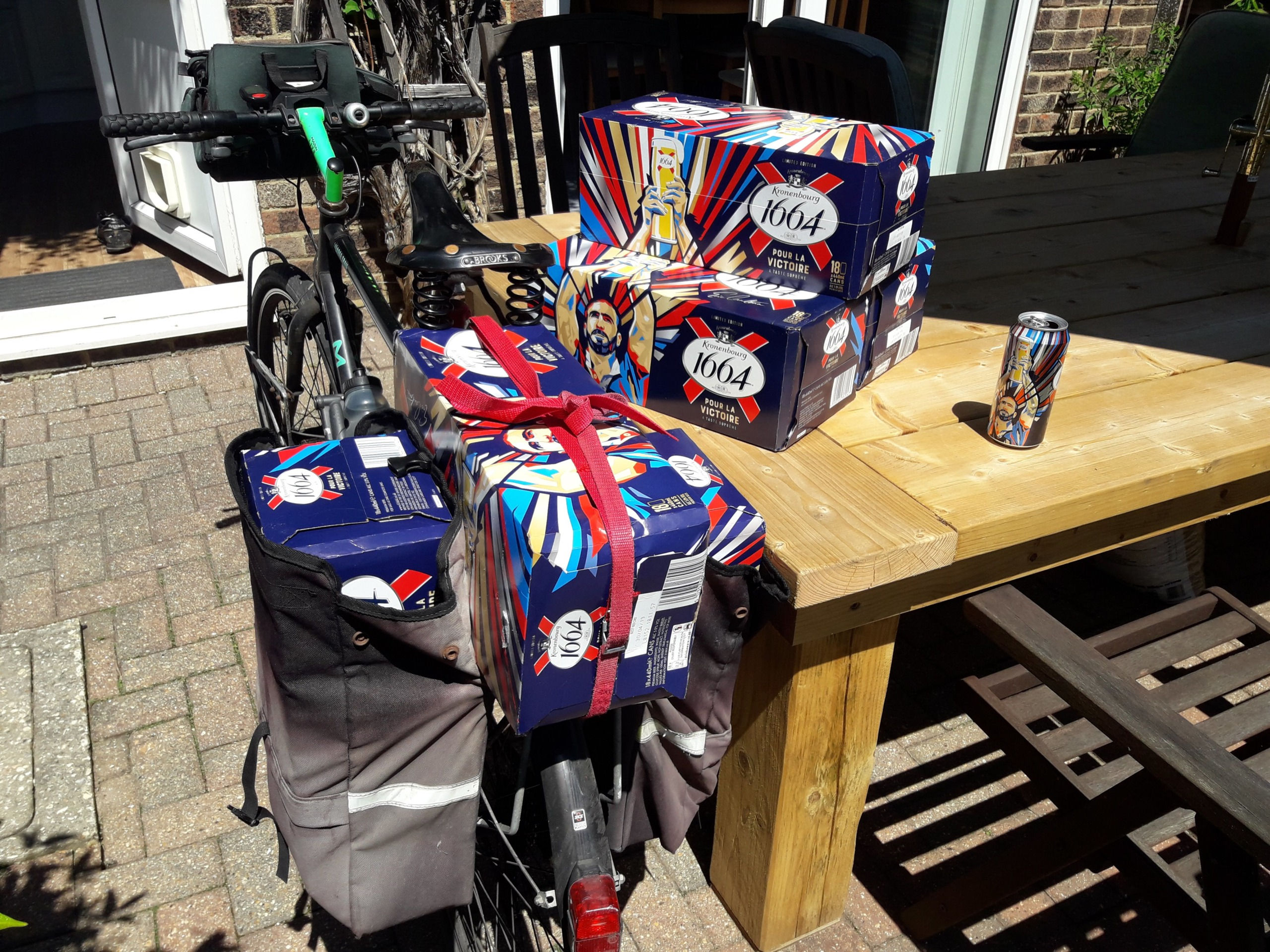 Beer on a bike