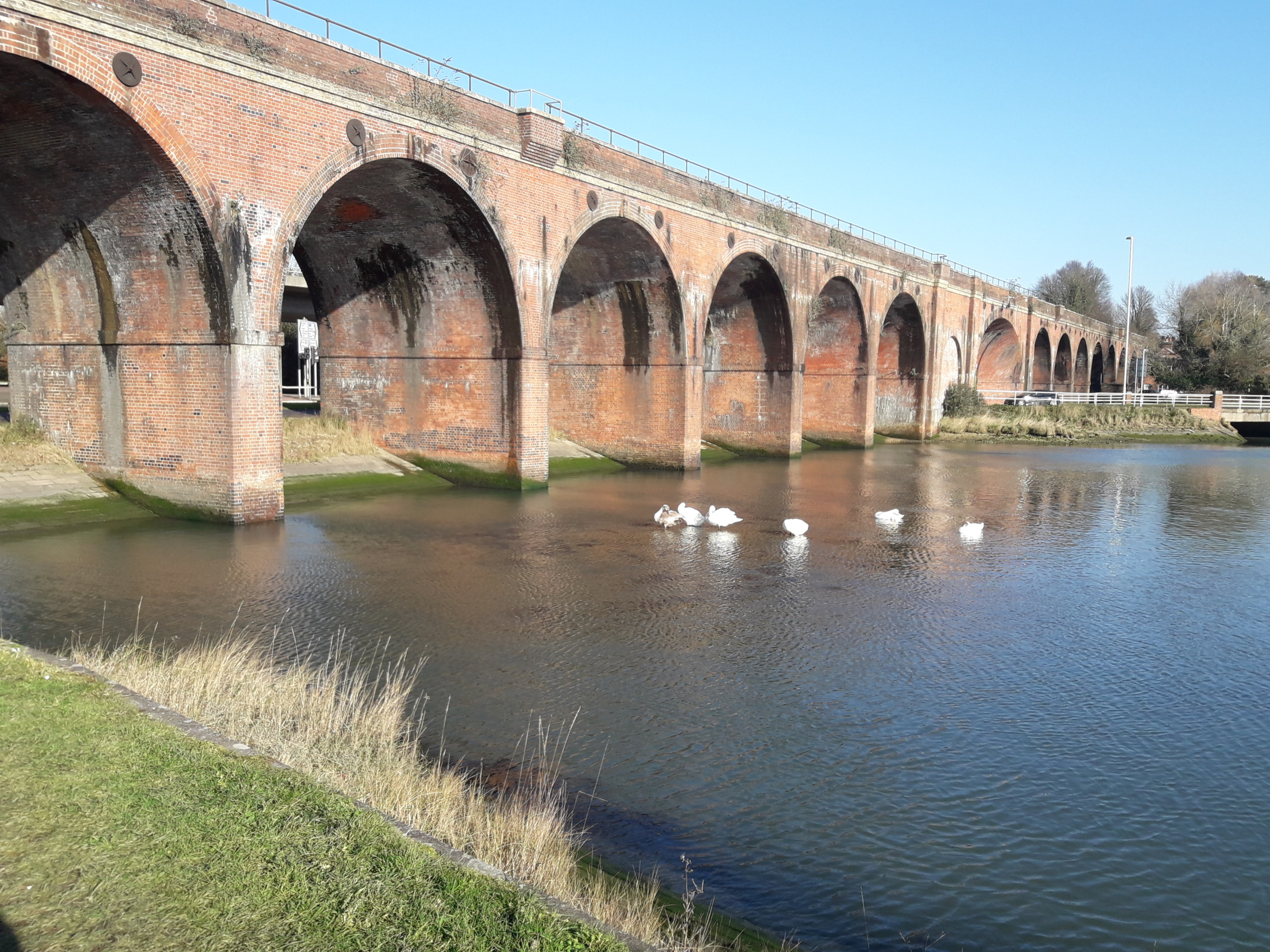 Viaduct over water