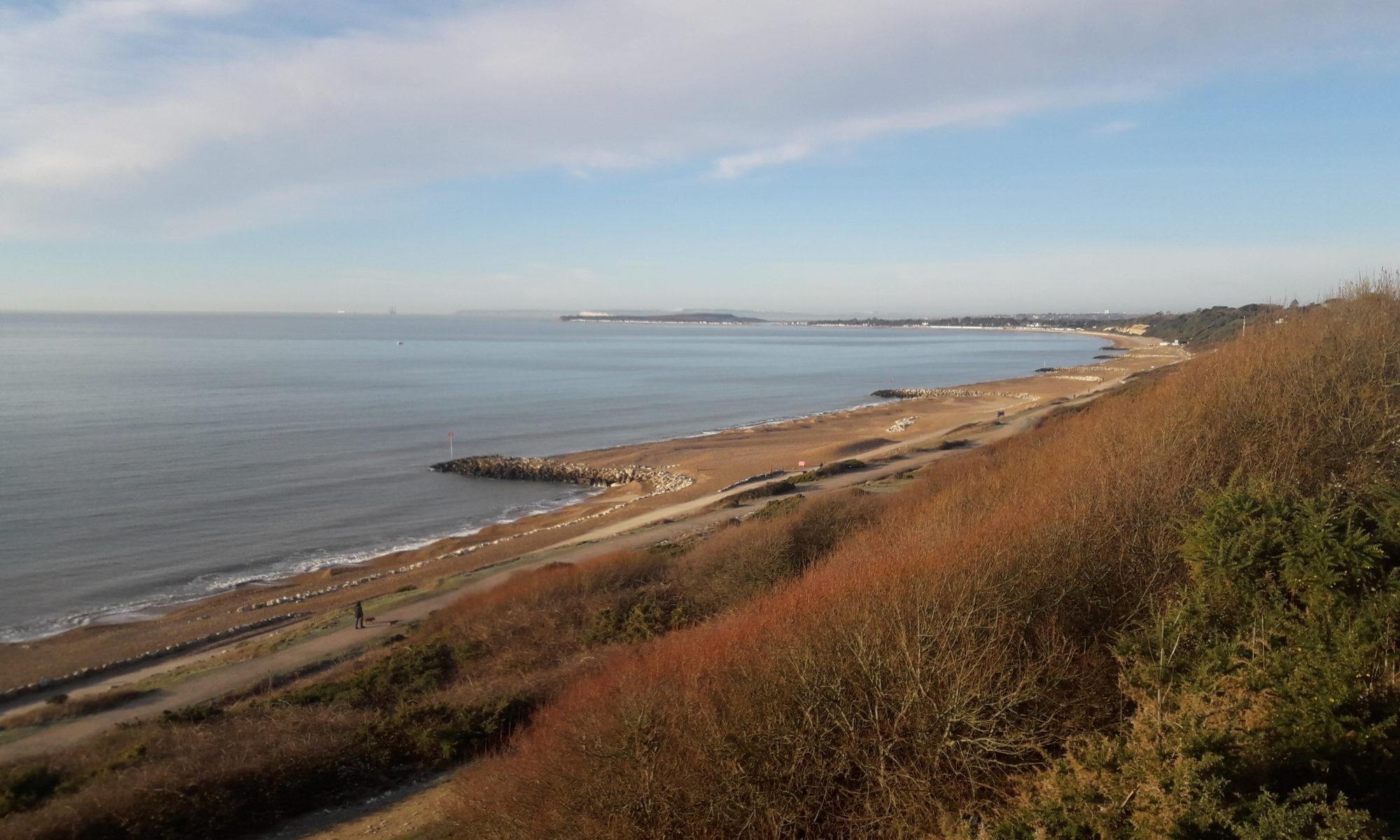 Sea beach and cliffs