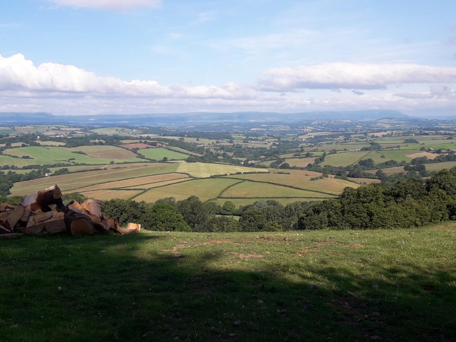 Overlooking hills