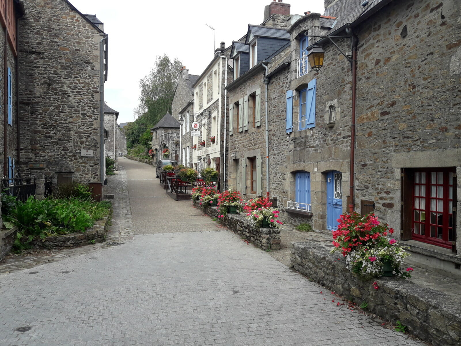 Street cottages flowers