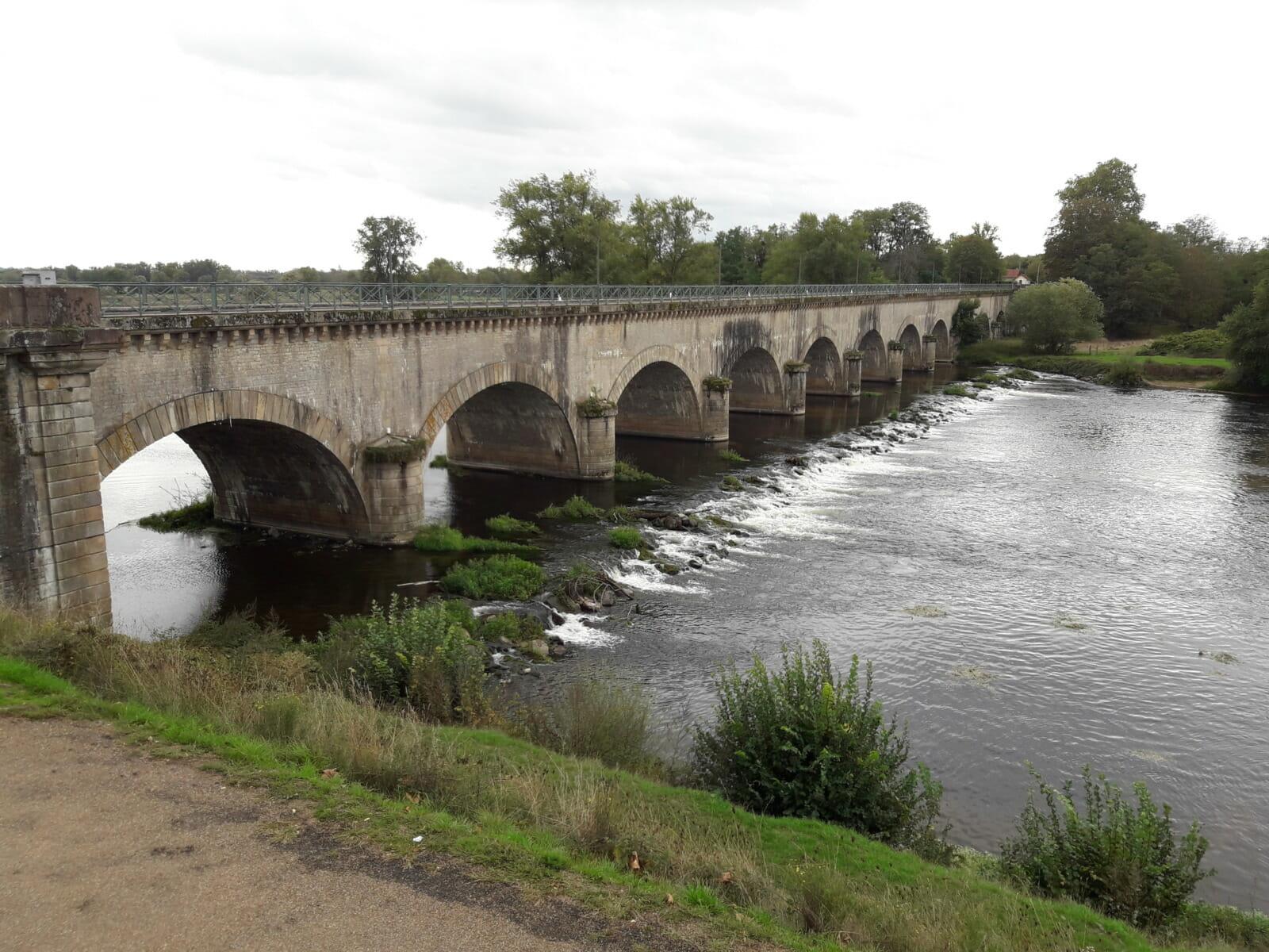 Aqueduct over a river