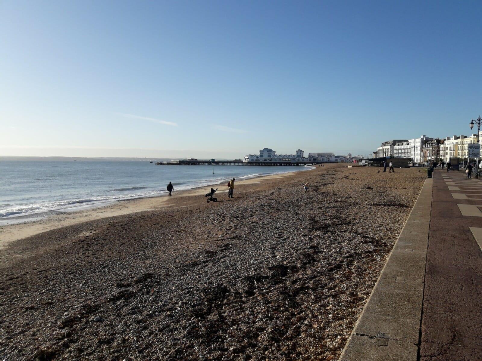 Pier and beach
