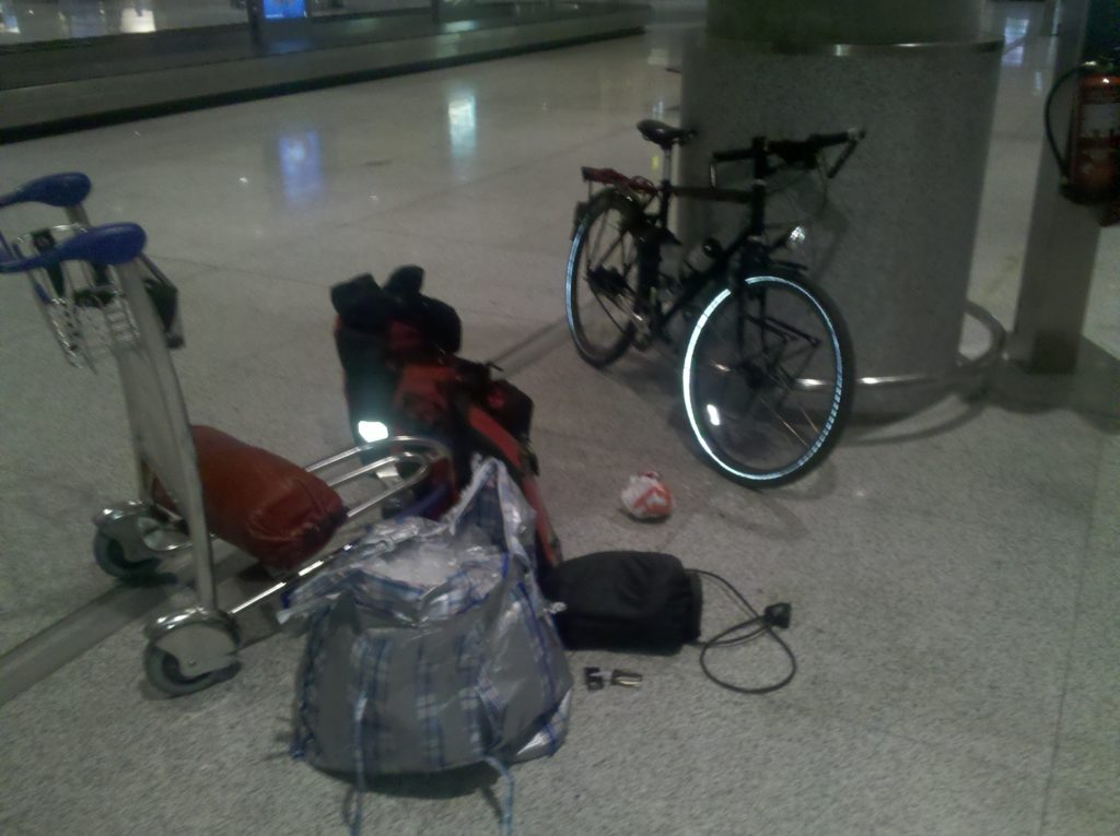 Bags and bicycle