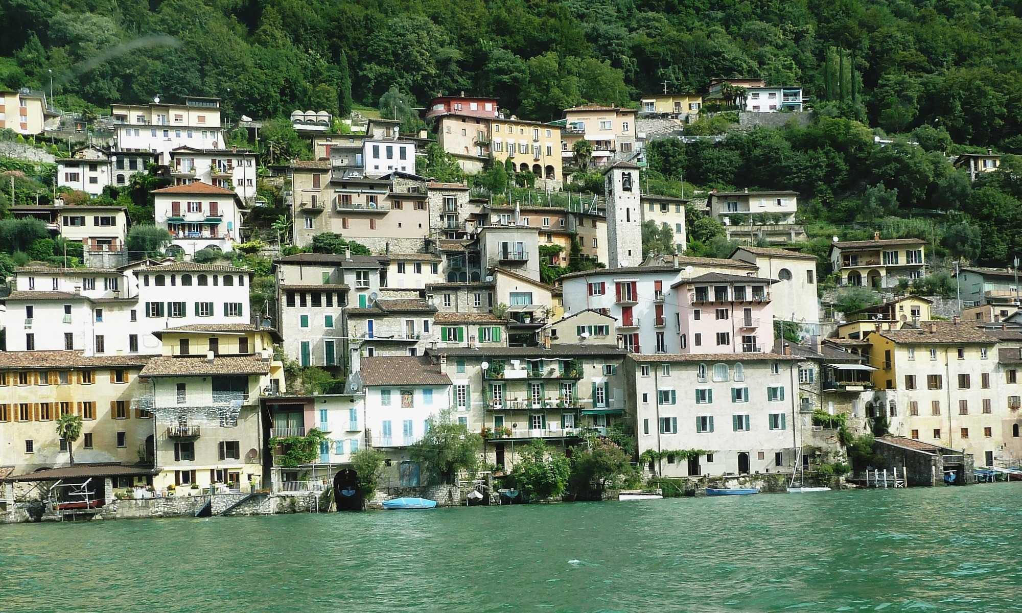 Houses by water