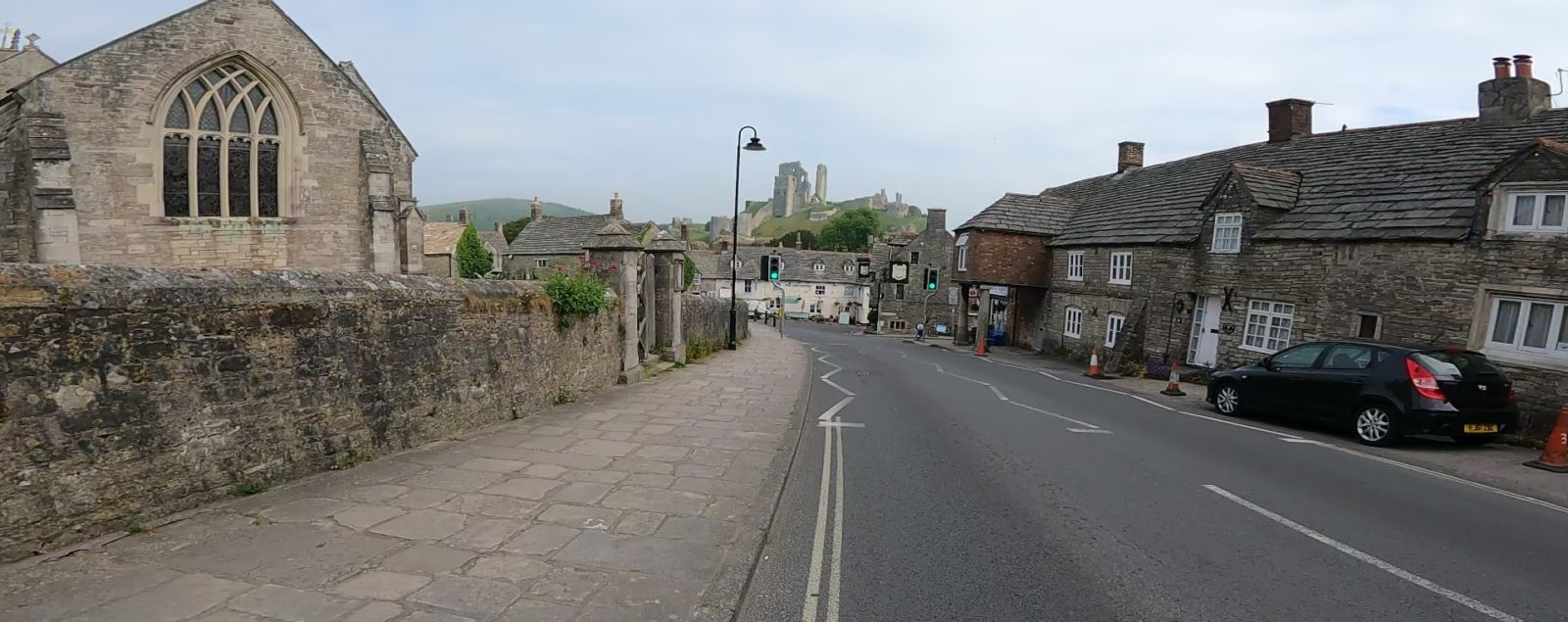 Old houses and castle