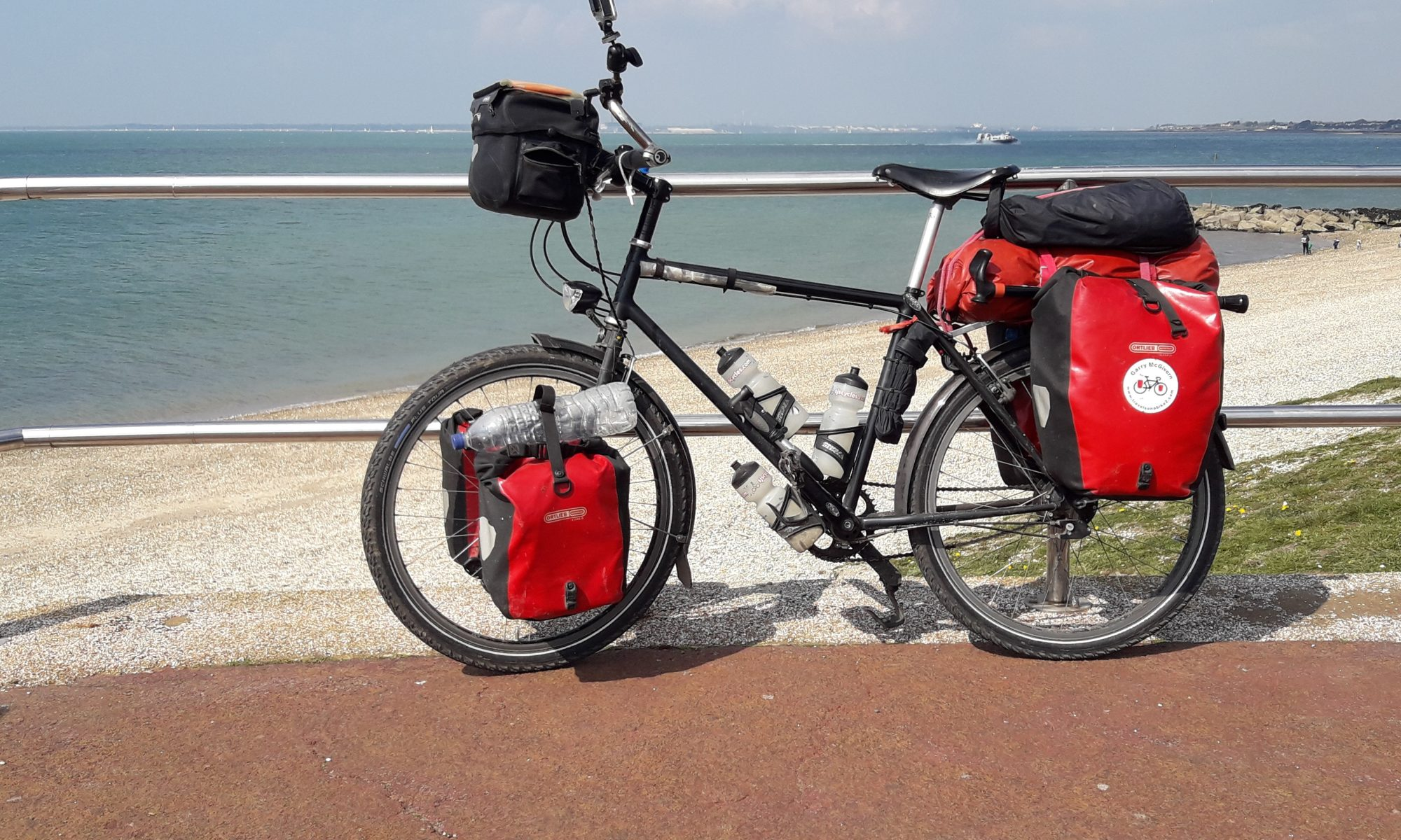 Bike on seafront