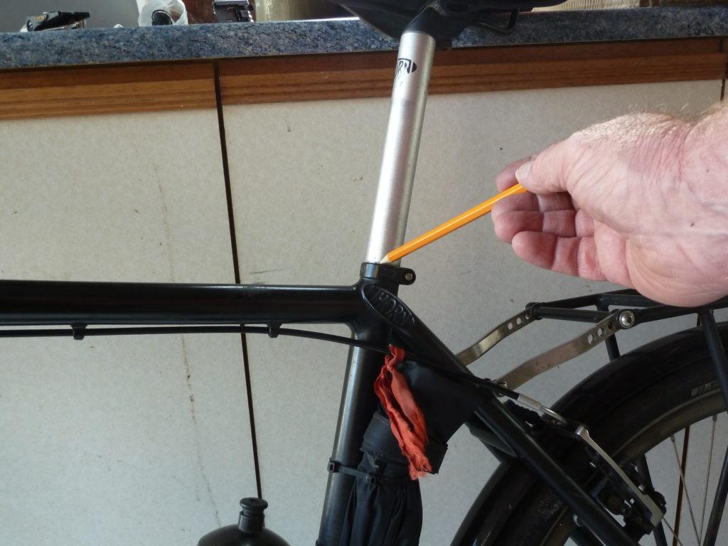 Pencil seat stem