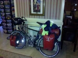 Touring bike fully loaded