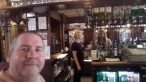 Garry enjoying a pint in Brighton