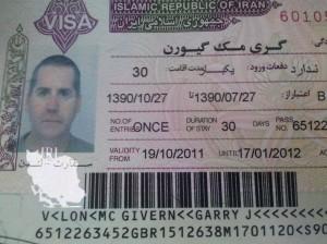 Garry McGivern's Iranian visa