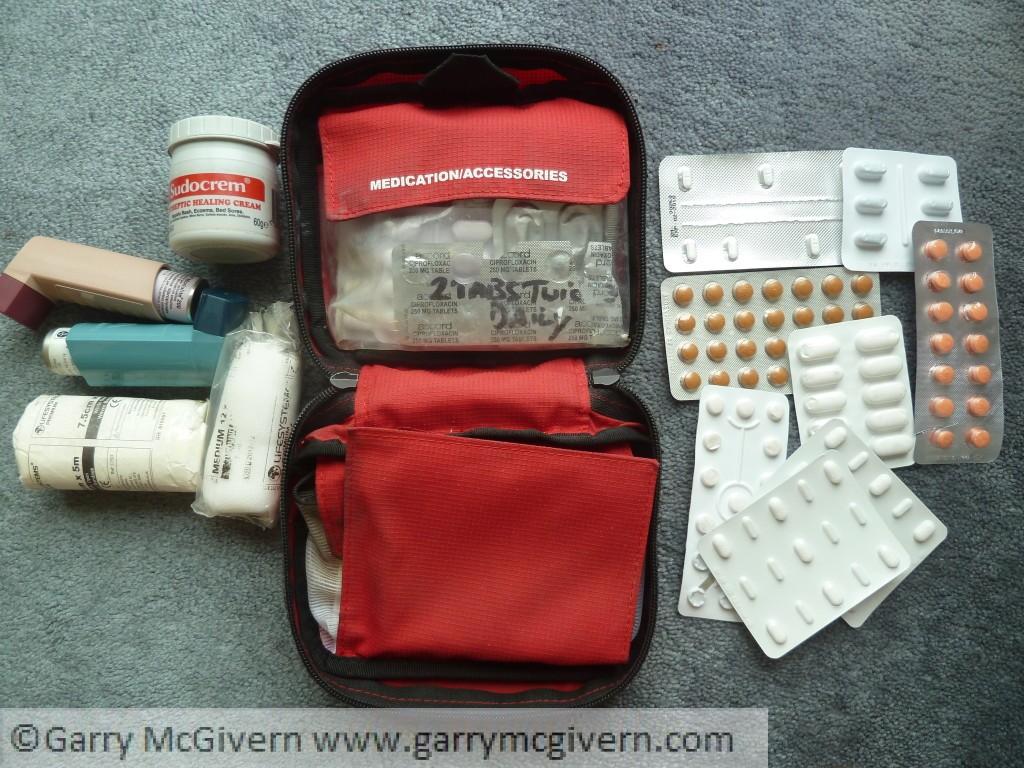 Cycle touring medical kit