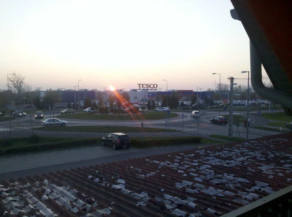 Tesco store in Mosonmagyarovar Hungary