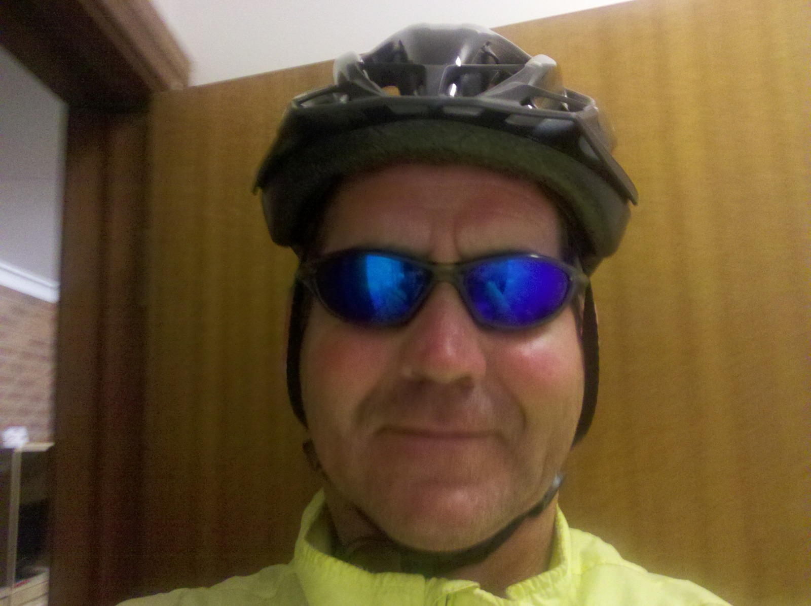 Garry McGivern in a cycle helmet