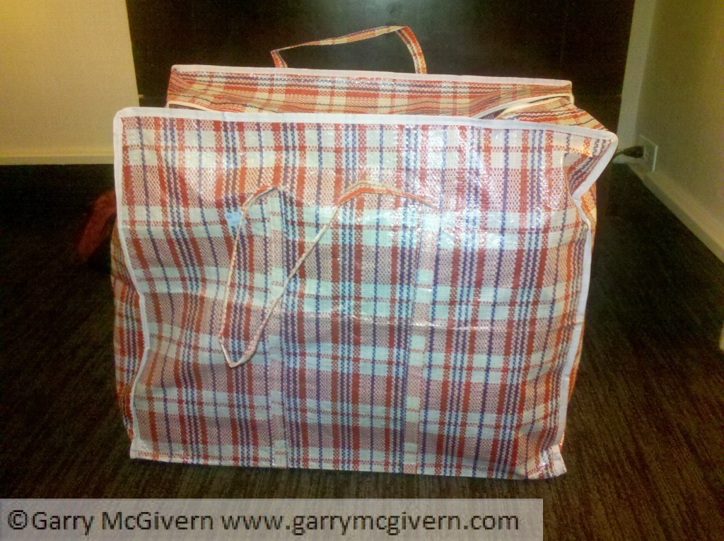 Chequered bag