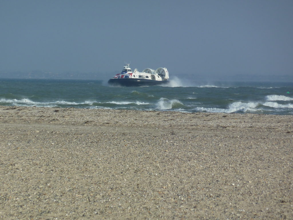 Hovercraft on the sea