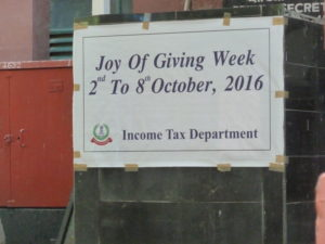 Income tax department sign Indian style