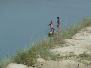 Fisherman on the Burhi Gandak river