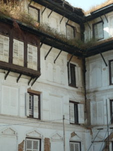 Now that's what you call a crack the damaged buildings in Nasel Chowk Durbar Square Kathmandu