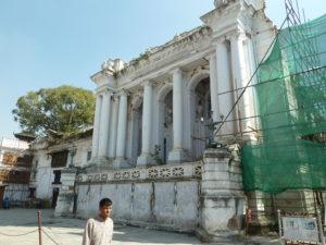The damaged Gaddi Baithak Durbar Square Kathmandu