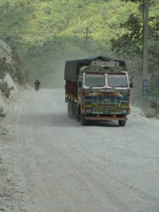 Broken roads between Mugling and Narayangadh