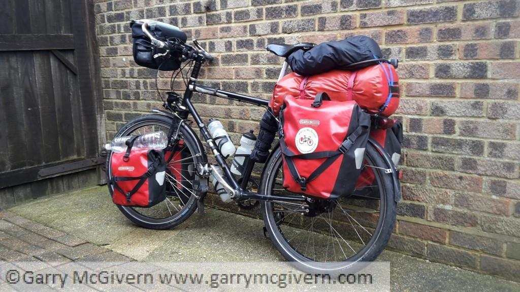 Touring bike all loaded