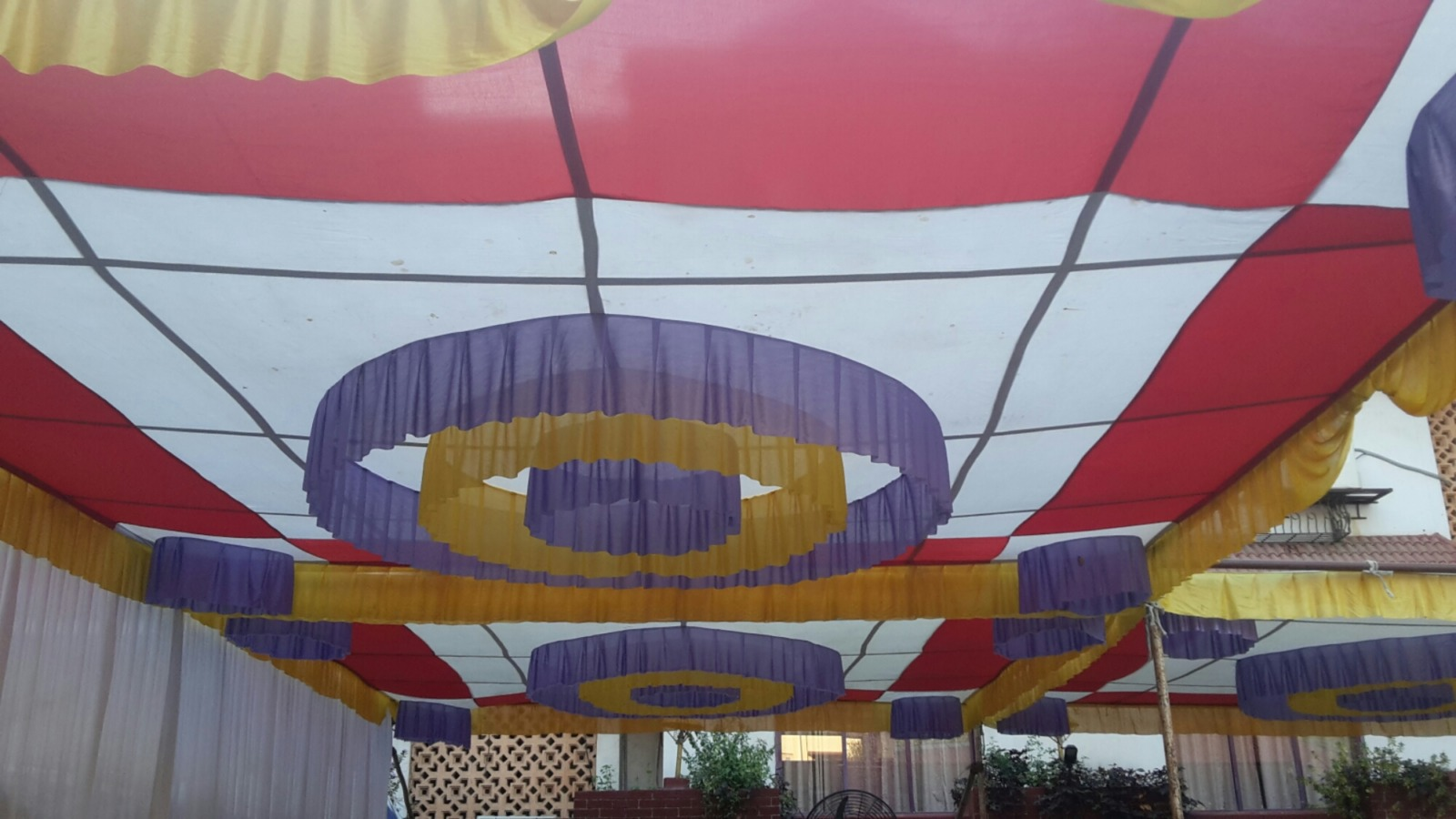 Coloured awning
